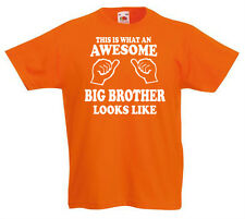Awesome Big Brother Camiseta 3-13yrs de Brother Cumpleaños Regalo Divertido z1