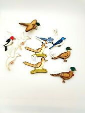 LOT 10 Birds Wilderness Woods Vintage Christmas Ornaments Handmade Rustic