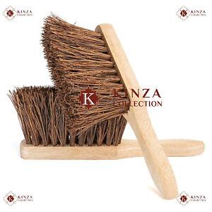 "Hand Brush Stiff Bassine Bristle Sweeping Broom 10.5"" Hard Brushes Soft Coco New"