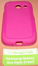 Pink slip on Gel case for Straight Talk Samsung Galaxy Ace Style S765C