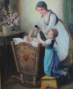 Museum Quality Original Antique Oil Painting F. TILGNER EDMUND ADLER  c. 1890