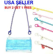 "19"" Light Weight Unicorn Kid Adult Bpa Free Face Mask Lanyard Strap Holder chain"