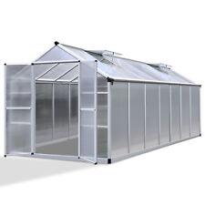 Green Fingers 4.1 X 2.5m Polycarbonate Aluminium Greenhouse