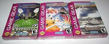 Lot of 3 Brand New Sega Game Gear Games! Sonic Spinball, Super Battletank