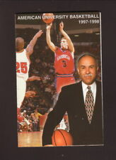 American Eagles--1997-98 Basketball Pocket Schedule--Papa John's Pizza