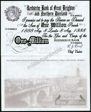 """GREAT BRIGHTON & NORTHERN DIRELAND"" ONE MILLION POUND REED FANTASY ART NOTE!"