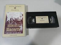 MACBETH TAPE VHS COLECCIONISTA SHAKESPEARE ORSON WELLES JEANETTE NOLAN