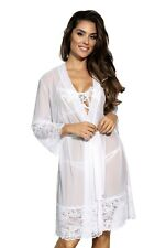 Axami Women Lingerie Soft Sheer Decorative Dressing Gown V-8850 One Size