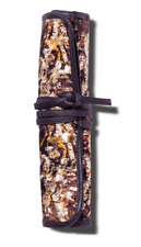 Sonia Kashuk Cosmetic Make Up Bag Brush Rollup Distress Floral with Foil New Nwt