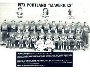 1973 PORTLAND MAVERICKS 8X10 TEAM PHOTO BASEBALL PICTURE PCL