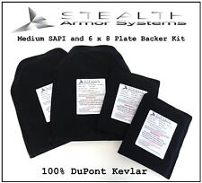 Medium SAPI and 6 x 8 Plate Backer Kit Level 3-A 100% DuPont Kevlar