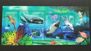 1998 Australia Marine Life Planet Ocean Fish Miniature Sheet Stamps 澳洲海洋生物邮票小全张