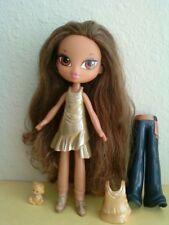 Girlz Girl Bratz Kidz Kid Yasmin Doll Brown Hair & Eyes Snap On Clothes Heels