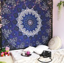 Psychedelische Star Mandala LILA Indische Baumwolle Wandbehang Tuch 210X 230cm
