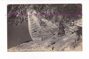 BURRINJUCK DAM WALL CONSTRUCTION 1914 RPPC Howard & Shearsby Yass AUSTRALIA