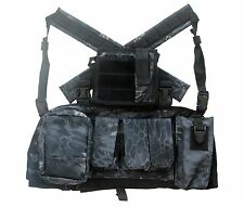 DLP Tactical RRV Chest Rig MOLLE Vest in Urban Serpent camo with four pouches
