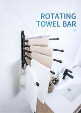 Swivel Wall-Mount Space Aluminum Bar Towel Rack Bath Shelf Holder Bathroom Arms