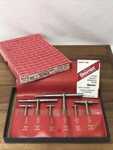 "Vtg Starrett S579HZ 5/16""-6"" Telescoping Gages 6pc Original Box Machinist Tools"