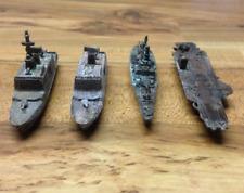 Estate Find Vintage Lot of 4 Metal Brass? Air Craft Carrier & War Ships