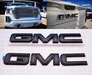 2019 2020 2021 GMC Sierra Front Rear ALL Black Emblem Kit 84364354 WITH Multipro