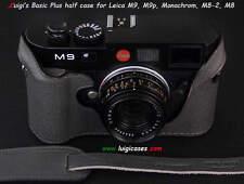 LUIGI GREY BASIC PLUS ITALIAN CASE to LEICA MONOCHROM1,M9P,M9,M-E,M8+GRIP+STRAP