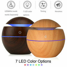 Aroma Essential Oil Diffuser Wood Grain Ultrasonic Aromatherapy Humidifier