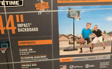 Lifetime Adjustable Portable Basketball Hoop 44-Inch Impact Outdoor Game Play
