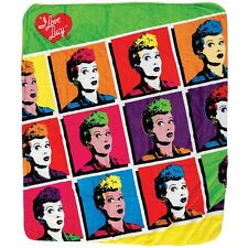 I Love Lucy Pop Art 1950s TV Comedy Lucille Ball Super Soft Sherpa blanket NEW