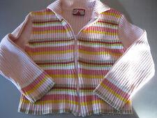 Strickjacke Jacke für Mädchen, Gr. 122 Girl Star, Rosa mit bunten Streifen schön