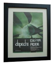 DEPECHE MODE+Exciter+POSTER+AD+RARE ORIGINAL 2001+FRAMED+EXPRESS GLOBAL SHIP