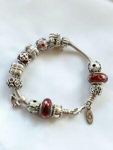 Pandora sterling silver bracelet, 60 grams
