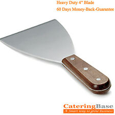 More details for food safe stainless steel griddle scraper with wooden handle- 4