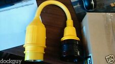 Marinco 121A Shore Power Straight Adapter NOS