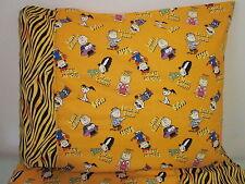 Charlie brown Halloween pattern 100% new Cotton handmade Pillowcase one pair