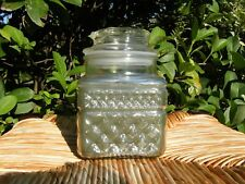 Vintage Yankee Candle Rare Old HTF O'TANNENBAUM Square Cut Glass Jar Candle