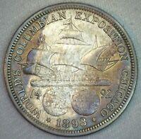 1893 Columbian Expo Silver Commemorative Uncirculated Half Dollar 50c US Coin