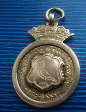 Super 9ct Rose Gold  Pigeon Fob Medal / Pendant  -  h/m 1924 Chester