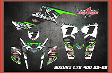 KAWASAKI KFX400 z400 LTZ QUADRACER  SEMI CUSTOM GRAPHICS KIT BIPOLAR DetoX4
