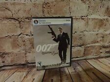 Quantum of Solace James Bond 007 Games for Windows Activision Manual Case PC DVD