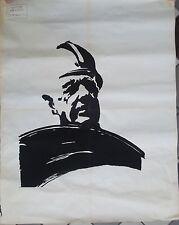 """Affiche originale Mai 68 """"De Gaulle """" P1623 XL"""