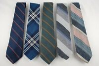 Lot of 5 Ties Various Designs Marquis Evan-Picone Lochcarron Striped Blue Green