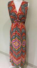 Threadz Maxi Dress In Multicolour Stripe ~ Size M 12