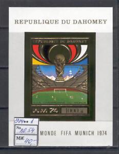 Soccer 1974 A28 Dahomey block foil Word Cup Munich CV 40 eur imperf