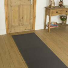 239cm X 60cm - Cheap Clearance Hall Hallway Carpet Runner Mat - Plain L. Grey