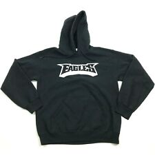 EAGLES Hoodie Sweatshirt Size Small S Black White Hooded Sweater Pullover Loose