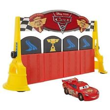 Disney Pixar Lightning Mcqueen Car Finish Line Frenzy Game Ages 5+ Toy Mattel