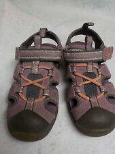 d1992aaa4894 Girl s Size 11.5 Clarks Purple Hook and Loop Closure Summer Sandals