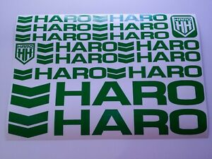 2 HARO BMX Stickers Cycling Printed Decals Bike Frame Forks Wheel Helmet 80/'s