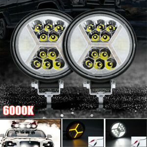 2x 9V/36V 117W LED Work Light Fog Lamp Boat Truck Off-Road Tractor Flood Lights