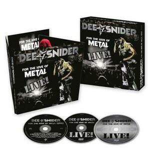 Dee Snider For the Love of Metal Live CD/Blu-Ray/DVD All Regions NTSC NEW